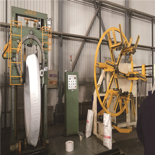 GW400 large pipe coil wrapping machine,tiiting and wraooing machine